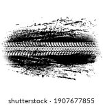 tire track of offroad car or... | Shutterstock .eps vector #1907677855