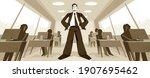 big boss director stands in... | Shutterstock .eps vector #1907695462