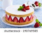 Sponge Cake With Strawberries...