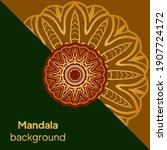 mandalas. decorative round... | Shutterstock .eps vector #1907724172