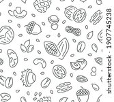 seamless pattern with nuts....   Shutterstock .eps vector #1907745238