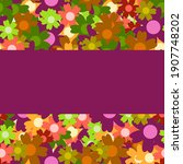 colored simple flower bouquet.... | Shutterstock . vector #1907748202