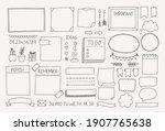bullet journal hand drawn... | Shutterstock .eps vector #1907765638