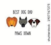 cute funny sheepdog  st bernard ... | Shutterstock .eps vector #1907767375
