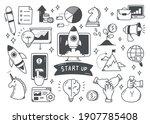 start up concept doodle set   Shutterstock .eps vector #1907785408