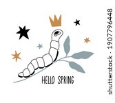 hello spring. card  poster with ... | Shutterstock .eps vector #1907796448