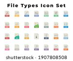 all file types icon set you... | Shutterstock .eps vector #1907808508