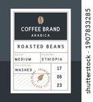 coffee beans vintage label....   Shutterstock .eps vector #1907833285