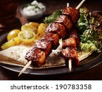 healthy barbecued lean cubed... | Shutterstock . vector #190783358