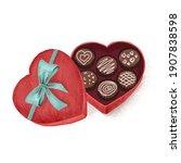 box of chocolates  valentine's... | Shutterstock . vector #1907838598