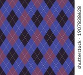 Argyle Pattern Dark In Purple...