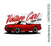 vintage car logo design template | Shutterstock .eps vector #1907851522