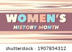 women's history month....   Shutterstock .eps vector #1907854312
