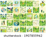 earth day concept. human hands...   Shutterstock .eps vector #1907855962