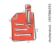 blogging icon in comic style.... | Shutterstock .eps vector #1907886592