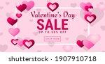 happy valentine day. horizontal ... | Shutterstock .eps vector #1907910718
