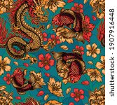 japanese style vintage colorful ... | Shutterstock .eps vector #1907916448