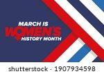 women's history month.... | Shutterstock .eps vector #1907934598