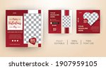 valentines day theme template...   Shutterstock .eps vector #1907959105