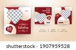 template kit for valentines day ... | Shutterstock .eps vector #1907959528