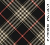 plaid pattern in black  red ... | Shutterstock .eps vector #1907968705