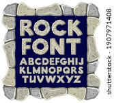 cartoon rock alphabet font....