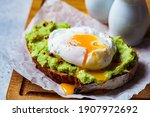 Avocado Toast With Poached Egg...