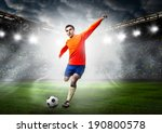 soccer or football player is... | Shutterstock . vector #190800578