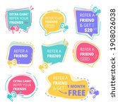 refer friend badges. abstract...   Shutterstock . vector #1908026038