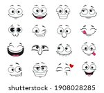 face expression isolated vector ... | Shutterstock .eps vector #1908028285
