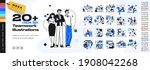 business teamwork illustrations.... | Shutterstock .eps vector #1908042268