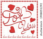 for you. creative banner with... | Shutterstock .eps vector #1908051292
