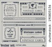 border style labels on... | Shutterstock .eps vector #190805156