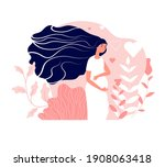 motherhood. pregnant woman ... | Shutterstock . vector #1908063418