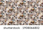 Small photo of Hundreds of multiracial people crowd portraits headshots collection, collage mosaic. Many lot of multicultural different male and female smiling faces looking at camera. Diversity and society concept