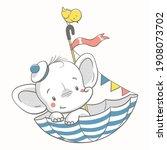 vector illustration of a cute... | Shutterstock .eps vector #1908073702