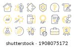 set of education icons  such as ... | Shutterstock .eps vector #1908075172