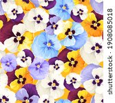 floral pattern with colorful... | Shutterstock .eps vector #1908085018