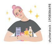 every day skin care routine...   Shutterstock .eps vector #1908086698