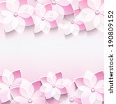 trendy abstract floral pink...   Shutterstock .eps vector #190809152