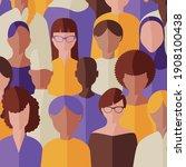 flat vector of women of... | Shutterstock .eps vector #1908100438