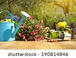 outdoor gardening tools and... | Shutterstock . vector #190814846