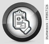 money document icon | Shutterstock .eps vector #190817126