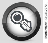magnifier icon | Shutterstock .eps vector #190817972