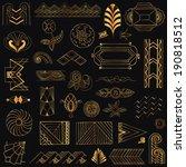 art deco vintage frames and... | Shutterstock .eps vector #190818512