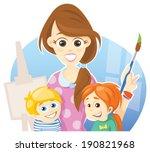 art class | Shutterstock .eps vector #190821968