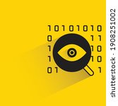 magnifier glass and eye scanner ... | Shutterstock .eps vector #1908251002