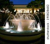 Fountain Streams In Night...