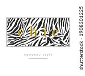 chic skin animal abstract... | Shutterstock .eps vector #1908301225