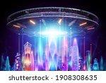 Creative Background  Ufo Plate...